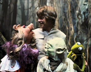Yoda Luke Skywalker and The Muppets
