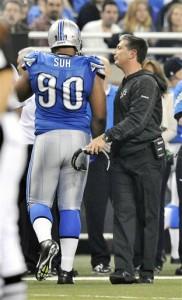 Jim Schwartz, Ndamukong Suh - Detroit Lions