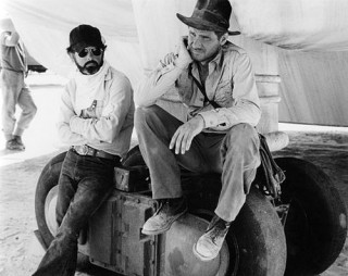 George Lucas and Harrison Ford on the Set of Raiders of the Lost Ark