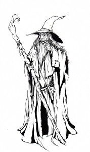 a sketch of Gandalf I did BEFORE the film was released