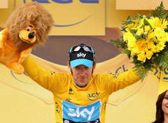 Bradley Wiggins of Team Sky wins 2012 Tour de France