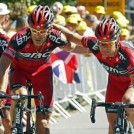 George Hincapie finished his 16th and final Tour de France by leading the peleton