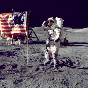 Neil Armstrong on the Moon in 1969