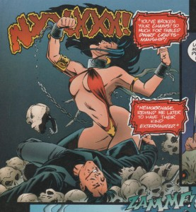 Vampirella Comic Panel on Dwarven Craftsmanship