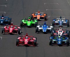 2013 Indianapolis 500 ends under Caution
