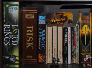 Geek Space Shelf of Inspiration Tolkien Section