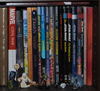 Geek Space Shelf of Inspiration RPG Section