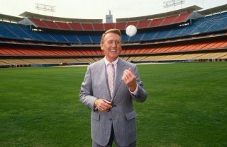 Vin Scully Brroklyn and Los Angeles Dodgers