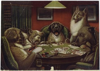 A Waterloo Dogs Playing Poker