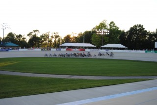 Racing at the Velodrome in Lehigh Valley, Pa