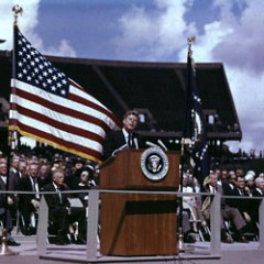 John F Kennedy famous Speech to the Moon