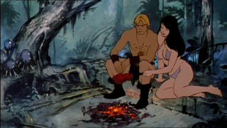 Larn and Teegra by the Fire