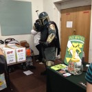 Mandalorian Merc of the Mandalorian Mercs at the Mandalorian Booth at The Great Allentown Comic Con