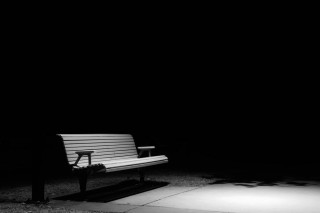 Bench lit by Street light