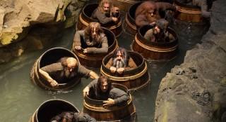 Dwarves in Barrels and Bilbo earns his Barrel Rider title