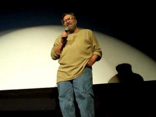 Ralph Bakshi speaking to an audience about art and animation