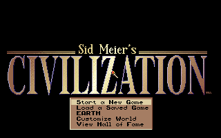Sid Meier's Civilization Start Screen