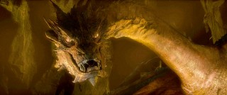 Smaug the Dragon voiced by Benedict Cumberbatch