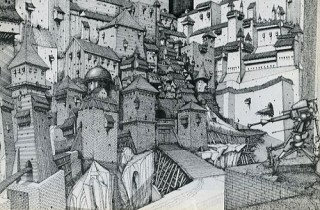 Wizards Background by Artist Ian Miller