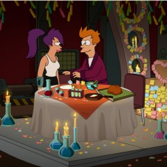 Fry and Leela have a Romantic Dinner - Futurama
