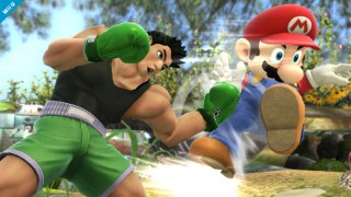 Little Mac punches Mario in Super Smash Bros