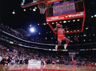 Michael Jordan in the NBA All-Star Game Slam Dunk Contest