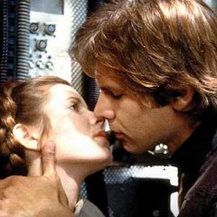 Princess Leia Organa and Han Solo Kiss