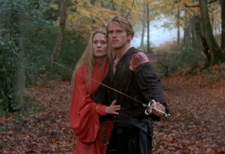 Westley protects Buttercup in The Princess Bride
