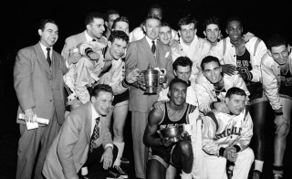 1950 The City College of New York Beaver's won the NCAA and NIT