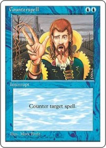 Fourth Edition Counterspell artwork by Mark Poole