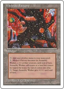 Fourth Edition Mishra's Factory - Magic the Gathering