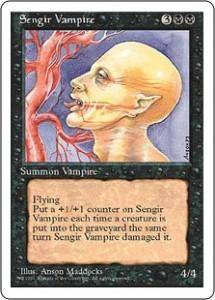 Fourth Edition Sengir Vampire - Magic the Gathering