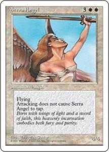 Fourth Edition Serra Angel with Artwork by Douglas Shuler