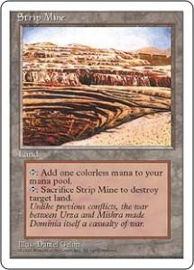 Fourth Edition Strip Mine - Magic the Gathering