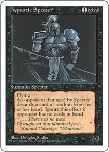 Fourth Edition hypnotic Specter - Magic the Gathering
