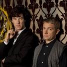Benedict Cumberbatch as Sherlock Holmes and Martin Freeman as Dr Watson