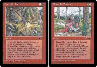 Both Versions of Guerrilla Tactics from Alliances
