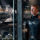 Captain America: The Winter Soldier Cap and Fury look over the Helicarrier Fleet