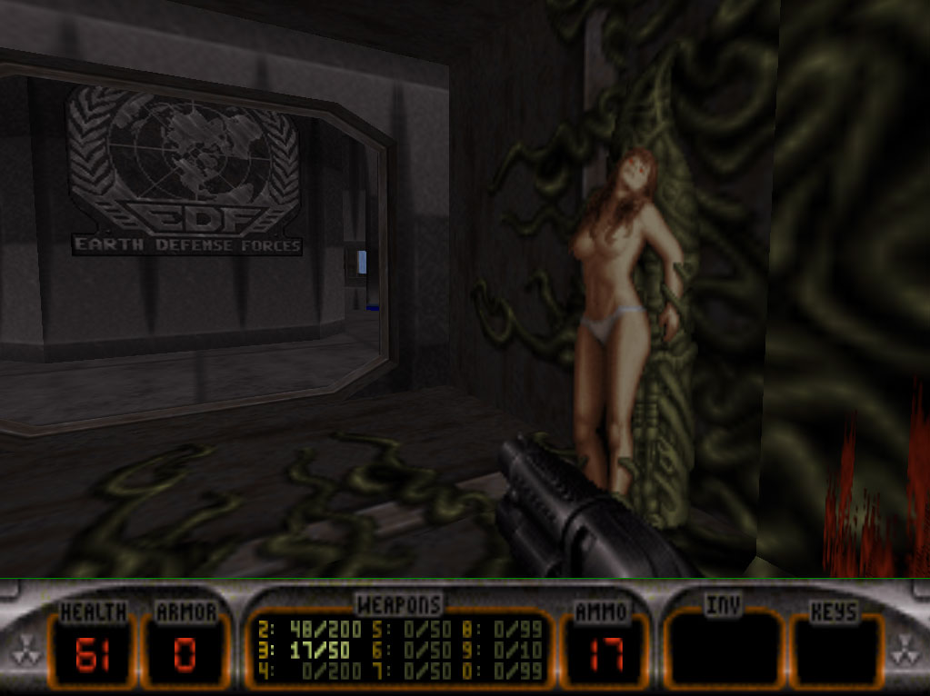 Aliens Games with naked