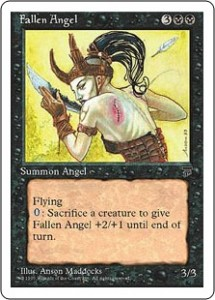 Fallen Angel from Legends reprinted in Chronicles