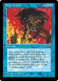 "Force of Will from Alliances. The ""Pitch Card"" Counterspell."