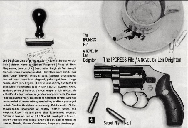 The original dust jacket for The IPCRESS File by Len Deighton
