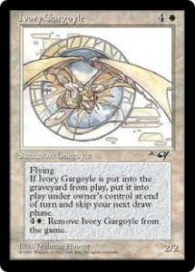 Ivory Gargoyle the creature that won't die from Alliances