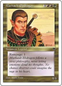 Marhault Elsdragon from Legends reprinted in Chronicles