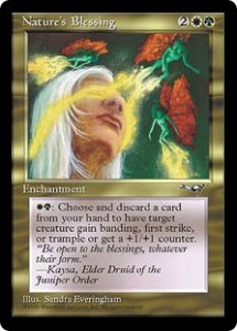 Nature's Blessing Gold Enchantment from Alliances