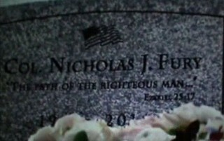 Nick Fury's Tombstone is an ode to Pulp Fiction