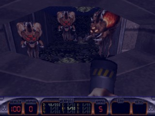 Protozoid Slimers and Octabrains are the most annoying enemies in Duke Nukem 3D