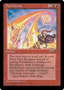 Pyrokinesis, Red's Pitch Card from Alliances