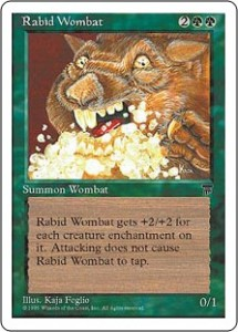 Rabid Wombat from Legends reprinted in Chronicles