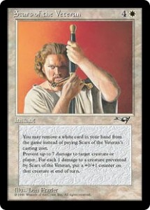 Scars of the Veteran White's Pitch Card from Alliances
